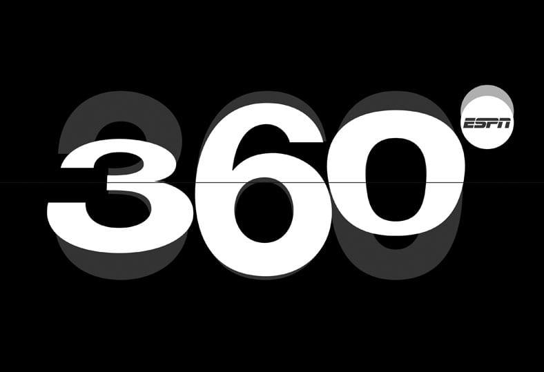 Logo design for ESPN's 360° lifestyle magazine