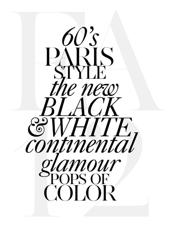 Ann Taylor's Fall 2012 Press Preview typography