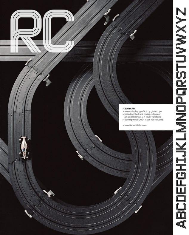 Slotcar Typeface